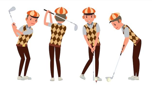 Klassischer golfspieler