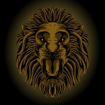 Klassischer löwenkopf