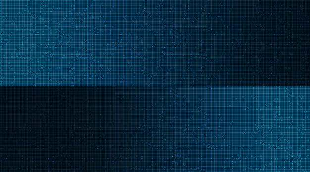 Klassischer mikrochip auf technologischem hintergrund, high-tech-digital- und sicherheitskonzeptdesign