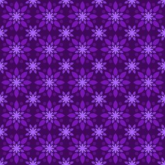 Klassischer nahtloser batikmusterhintergrund. luxus geometrische mandala tapete. elegantes traditionelles blumenmotiv in lila farbe