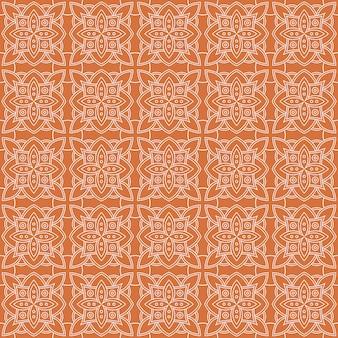 Klassischer nahtloser batikmusterhintergrund. luxusblatt mandala tapete elegantes traditionelles blumenmotiv