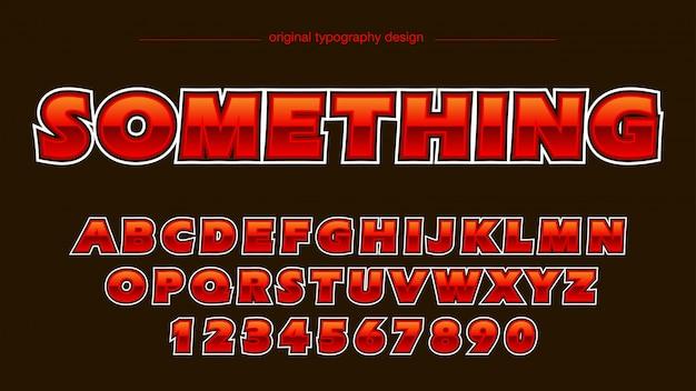 Klassischer roter mutiger glatter typografieentwurf