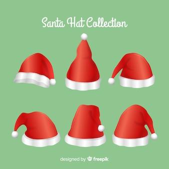 Klassischer satz weihnachtsmützen
