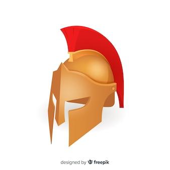 Klassischer spartanischer helm mit farbverlauf