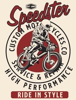 Klassischer speedster für motorräder