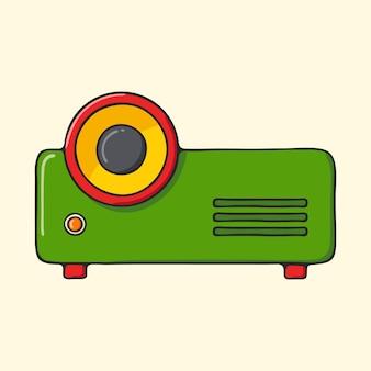 Klassischer tragbarer projektor