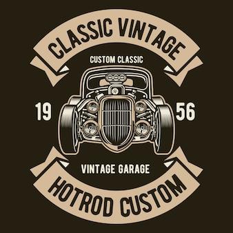 Klassischer vintage hotrod