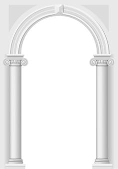 Klassischer weißer bogen