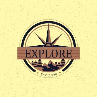 Klassisches abenteuer-logo