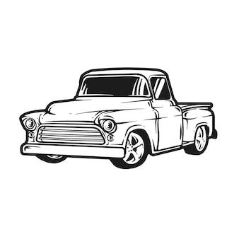 Klassisches auto oder klassischer lkw