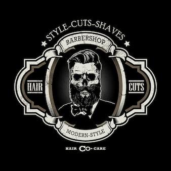 Klassisches barbershop-logo