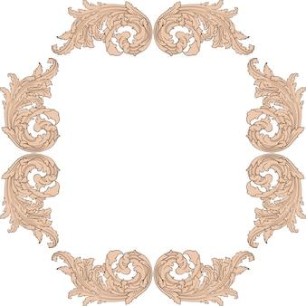 Klassisches barock-set von vintage-elementen.