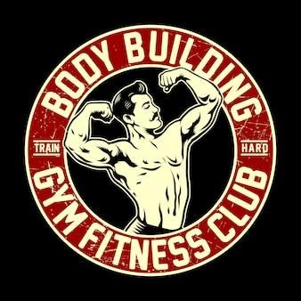 Klassisches bodybuilding-abzeichen