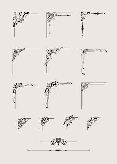 Klassisches bordüren-set
