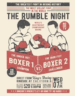 Klassisches boxen
