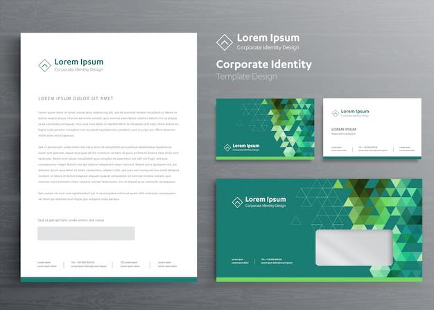 Klassisches briefpapiergeschäft corporate identity-schablonendesign