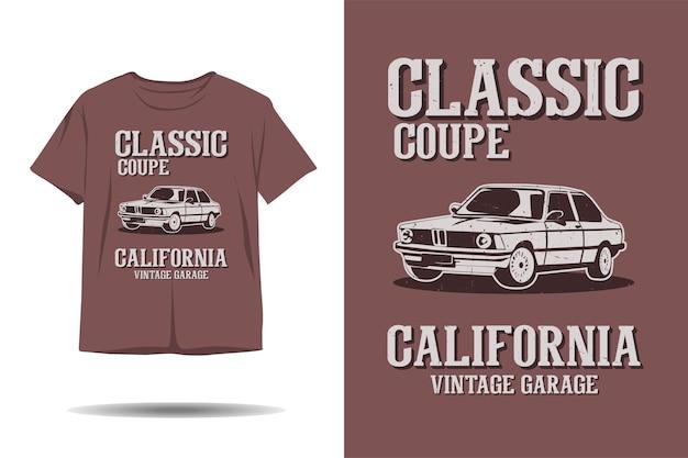 Klassisches coupe california vintage garage silhouette t-shirt design