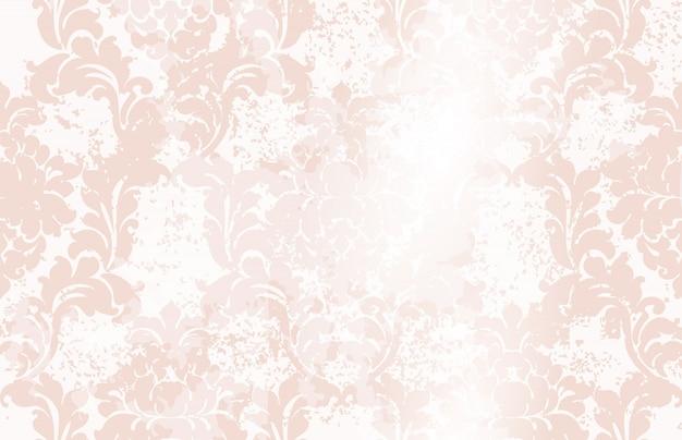 Klassisches elegantes verzierungsmusteraquarell. rosa zarte farbtexturen