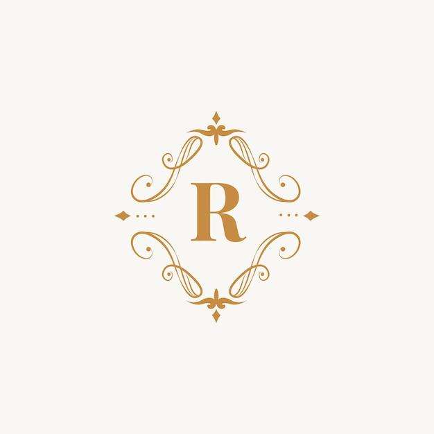 Klassisches emblem mit initiale