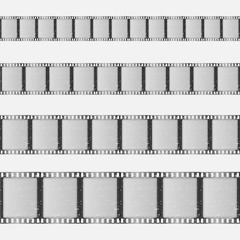 Klassisches filmstreifen-set
