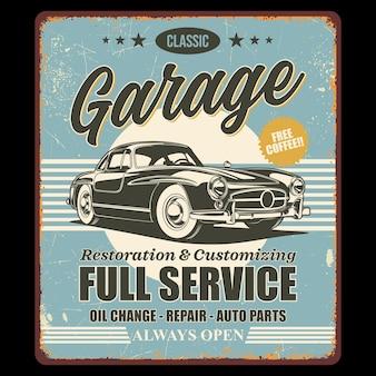 Klassisches garagen-retro-design