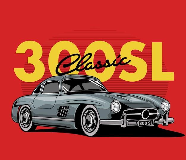 Klassisches gulwing auto