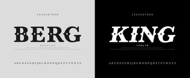 Klassisches luxus-alphabet mit königlichem schriftzug
