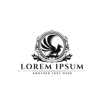 Klassisches luxus-ornamental badge griffin logo design