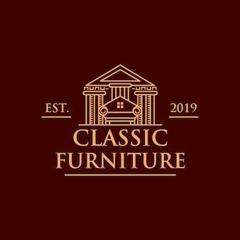 Klassisches möbelhaus-logo