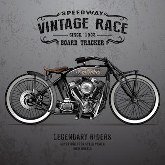 Klassisches motorrad poster