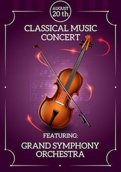 Klassisches musikplakat