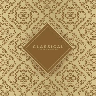 Klassisches nahtloses luxusmuster