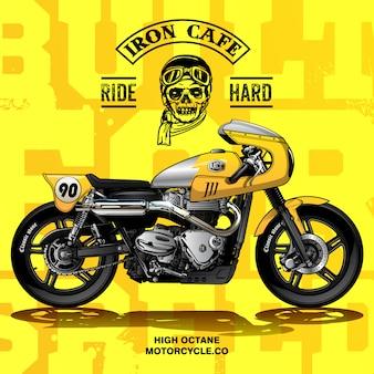 Klassisches rennen-motorrad-plakat
