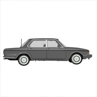 Klassisches retro- weinleseauto der karikaturillustration