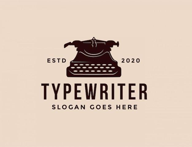 Klassisches schreibmaschinenlogo