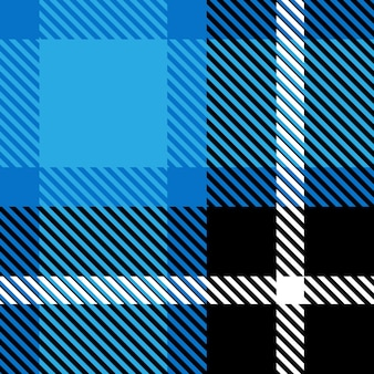 Klassisches schwarzes und blaues kariertes nahtloses retro- muster