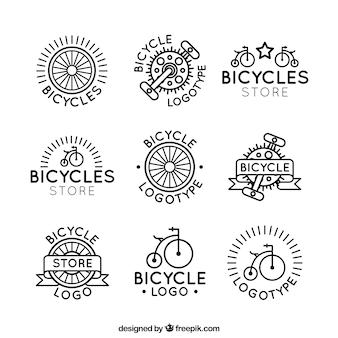 Klassisches set von fahrradlogos