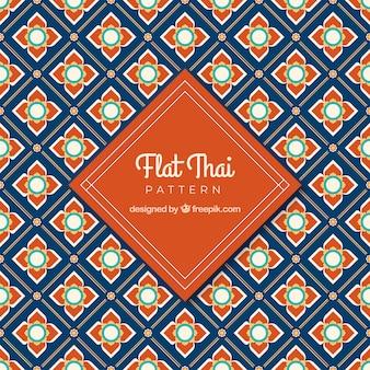 Klassisches thailändisches muster mit flachem design