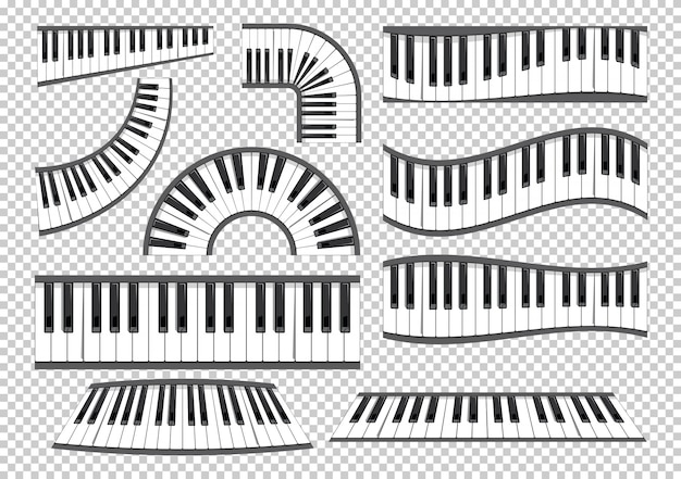 Klaviertastaturen eingestellt