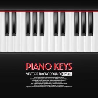 Klaviertasten hintergrund