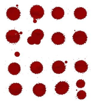 Kleckse-flecke eingestellt, lokalisiert auf weißem hintergrund, vektor-illustration