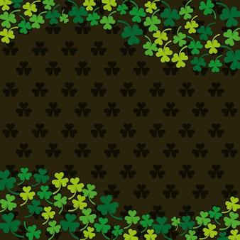 Klee hintergrund. st. patrick's day design