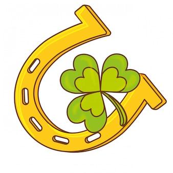 Kleeblatt- oder shamrock-symbolbild