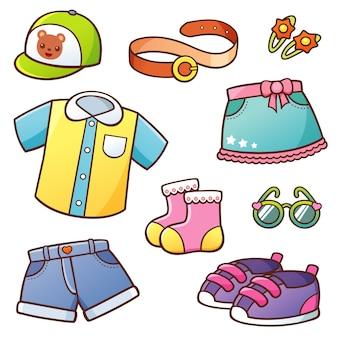Kleidung eingestellt