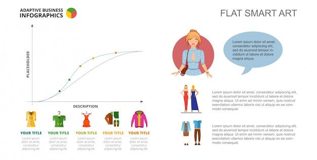 Kleidung linie diagramm folie vorlage