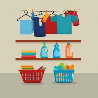 Kleidung mit wäscheservice