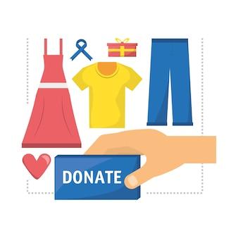 Kleidung spende unterstützung für die nächstenliebe der menschen