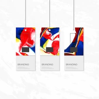 Kleidungsmarke mit künstlerischem design