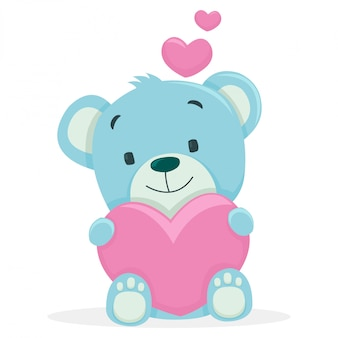 Kleine bären erhalten ein liebesgeschenk von seinem freund