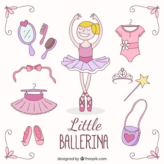 Kleine ballerina kleidung pack